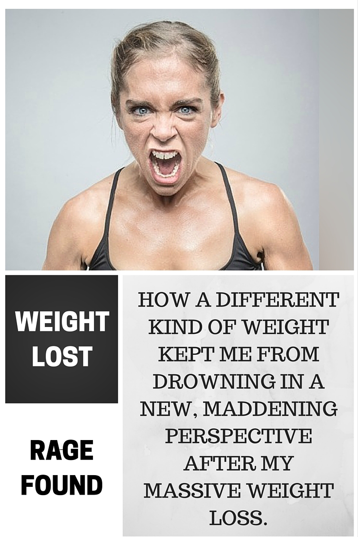How a different kind of weight kept me from drowning in a new, maddening perspective after my massive weight loss. #weightloss #beforeandafter