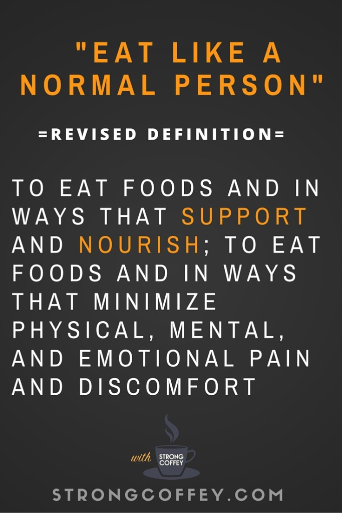 Why I stopped trying to eat like a normal person, and how I finally managed to do it.