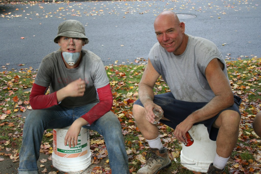 Coffey & her father, Brian Coffey, taking a break in 2009