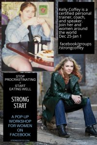 FREE Pop-up Workshop for Women on FB * STRONG START * facebook/groups/strongcoffey #weightloss #selfcare #beforeandafter